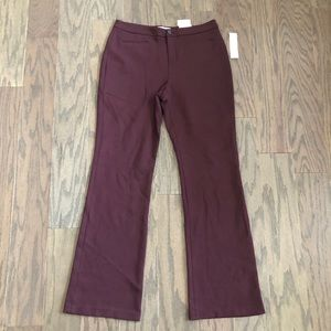 Coldwater Creek Natural Fit Flare Leg Maroon Pants
